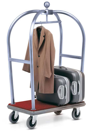 KTA 003 Hotel Luggage Trolley Stainless