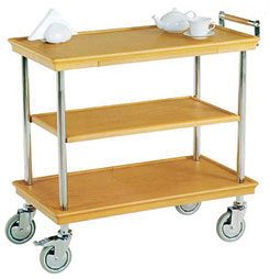 RST 002 Wood Service Trolley