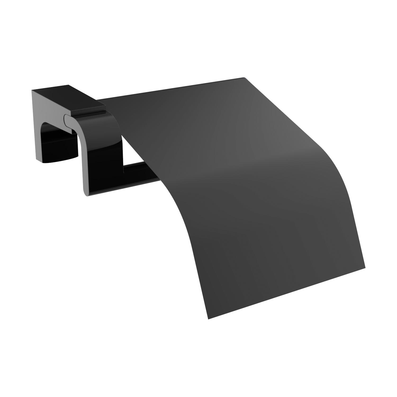 Siyah Lüks Tuvalet Kağıtlığı Kapaklı