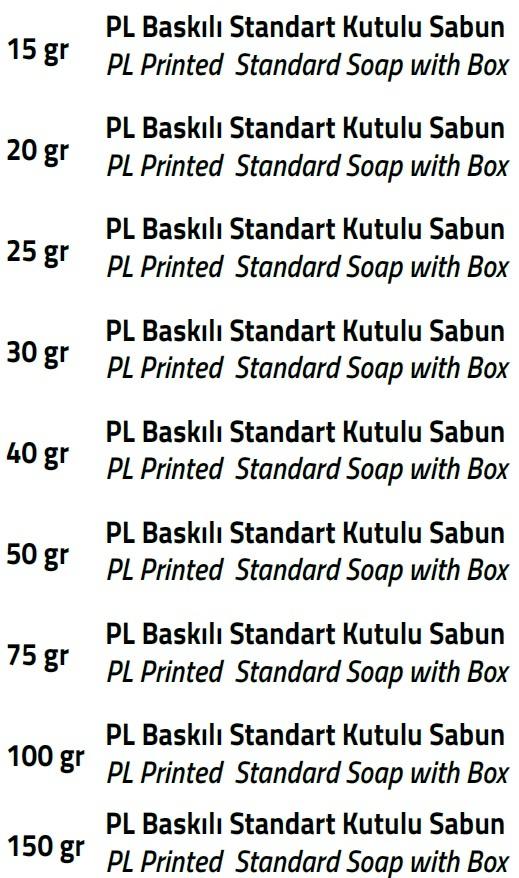 baskılı standart kutulu sabun ebatlar