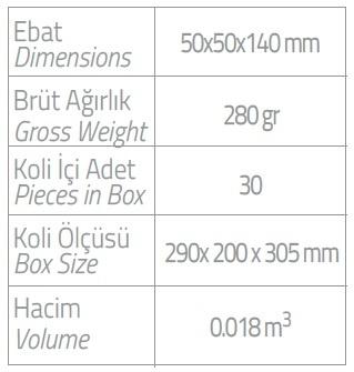 dispenser 250ml kartuş vücut losyonu ebatlar