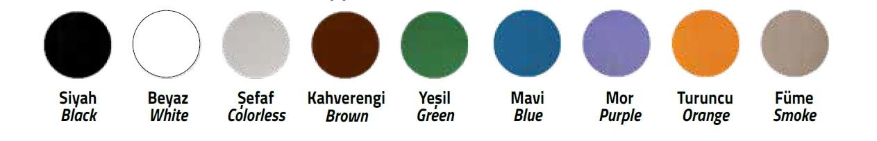 kozmetik şişe renkleri